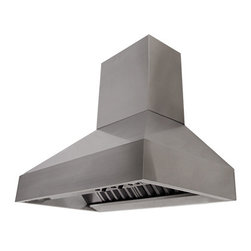 """Proline - Proline PROV Wall Range Hood w/Chimney & Heat Lamps, 36 - The brand new ProV Chimney models extent the selection of our """"Pro"""" series hoods. These wall mount and barbecue range hoods feature full variable speed fan controls, 2 heat lamp sockets, baffle filters and energy efficient LED lights. Available with local, in-line and roof mount blower. Made with 100% 430 grade stainless steel construction (including the top and back), making them easy to clean and maintain. They can be used with any UL listed remote blower! They are sold with or without the blower. * This ships FREE Standard Shipping."""