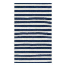 Loloi Rugs - Piper Collection Rug, Navy - Transform the floor into a vibrant play area for your child with the cheerful Piper Collection. Distinguished by its incredibly soft microfiber polyester surface and playful geometric and linear designs, the machine woven Piper Collection instantly l