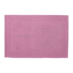 "Serena & Lily - Textured Cotton Bath Mat Juice (17x24"") - Loops of comfy cotton create a great texture that our feet (and eyes) can't get enough of. Thick and absorbent, it's heavenly for the bath and a great new basic."