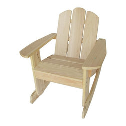 Lohasrus Kids - Kids Wooden Adirondack Rocking Chair - Natural Brown - MM20601 - Shop for Childrens Rocking Chairs from Hayneedle.com! Kids like to rock too. Give your little one a place to rock with the Kids Wooden Adirondack Rocking Chair - Natural. This durable chair is crafted from sustainably grown fir wood that's insect- and rot-resistant. The included instructions and wrench make assembly a breeze.