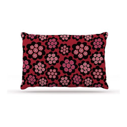"""Kess InHouse - Jane Smith """"Garden Pods Repeat"""" Pink Floral Fleece Dog Bed (50"""" x 60"""") - Pets deserve to be as comfortable as their humans! These dog beds not only give your pet the utmost comfort with their fleece cozy top but they match your house and decor! Kess Inhouse gives your pet some style by adding vivaciously artistic work onto their favorite place to lay, their bed! What's the best part? These are totally machine washable, just unzip the cover and throw it in the washing machine!"""