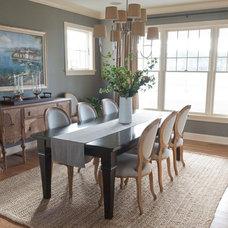 Beach Style Dining Room by Kristin Hoaglund Design