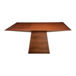 Chloe Dining Table, Tan Walnut/Small