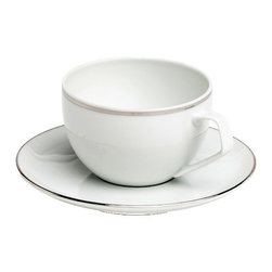 Rosenthal Studio - Platinum Filet A.D. Porcelain Cup and Saucer - This collection features a platinum colored mosaic that extends all over the plate. The design takes on the theme of structure by playing with the contrast between matte and glossy surfaces. This collection will add a touch of minimalism to your table.