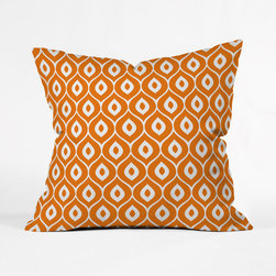 Orange Twist Pillow Cover - Grab some style tips from the '60s with this retro-inspired pillow case. Toss it on a modern bedspread to mix and match.