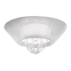 """Kolarz - Top quality from Vienna - Kolarz - Top quality from Vienna Akita ceiling lamp large - Akita ceiling lamp large is part of a collection of High End light fixtures made in Vienna, Austria by Kolarz. This light series is designed by artistique minds using fine materials, crystal, pearls and Swarovski elements, beeing a unique creation and fashioned to reflect individual personality and lifestyle. Akita is available in a single version in chrome finishes with its lampshade in a choice of white, white and black or white and red option and details in Pure Kolarz crystals. Combining its distinctive design with the highest quality of its materials the ceiling light is a luxury path for both commercial and residential interiors. Illumination is provided by E27, 75W Incandescent bulb (not included).      Product Details: Akita ceiling lamp large is part of a collection of High End light fixtures made in Vienna, Austria by Kolarz. This light series is designed by artistique minds using fine materials, crystal, pearls and Swarovski elements, beeing a unique creation and fashioned to reflect individual personality and lifestyle. Akita is available in a single version in chrome finishes with its lampshade in a choice of white, white and black or white and red option and details in Pure Kolarz crystals. Combining its distinctive design with the highest quality of its materials the ceiling light is a luxury path for both commercial and residential interiors. Illumination is provided by E27, 75W Incandescent bulb (not included). Details:                         Manufacturer:            Kolarz                            Designer:            Kolarz                            Made in:            Austria                            Dimensions:                        Diameter: 27.6""""(70cm) X Height: 7.9""""(20cm)                                         Light bulb:                        E27, 3x75W Incandescent bulb (not included)                                         Material:     """