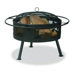"Blue Rhino - Wide Aged Bronze Firebowl With Leaf Design - Uniflame WAD992SP 21.6"" Wide Aged Bronze Firebowl with Leaf Design.  This Uniflame Slate provides 360 degree of warmth and view. These appealing outdoor fireplaces are affordable, portable and it is so easy to use. Family and friendly gatherings will be more fun because of the right warmth it brings to your backyard, patio and pool area. Uniflame is the top of the line for the best portable outdoor fireplaces to warm up winter and chilly nights. 21.5"" x 30"""