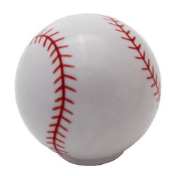 GlideRite Hardware - GlideRite Baseball Cabinet or Dresser Sports Knobs, Baseball - Add a stylish look to your cabinets with this baseball cabinet knob. Each knob is individually packaged to prevent damage to the finish. Standard installation screws are included.