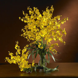 Nearly Natural - Dancing Lady Silk Orchid Flower (6 Stems) - Are you looking for something personal to give that special loved one? Create your own Dancing Lady Silk Orchid arrangement using any one or all of these Nearly Natural silk flowers. Imagine how delighted the lucky recipient will be, especially when you tell them you made it! Color: Yellow, Height: 33 in, Number of Stems: 6.