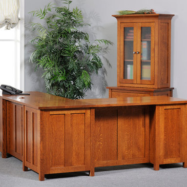 Coventry Mission L Desk - front -
