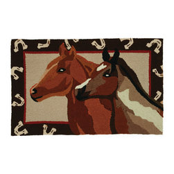 Homefires - Stable Mates Rug - To get to a place where your wild horses run free isn't always easy with a full-time job, commute and kids. However, you can still experience it through your décor. This wool-like, machine-washable rug lets you run free with wild abandon in your own home.