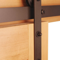 Real Sliding Hardware - Classic Barn Door Hardware Kit - You need hardware for your home that's both functional and attractive, and this kit has you covered. It works on interior and exterior doors alike and is available in unfinished steel, black and bronze to match your decor just so.