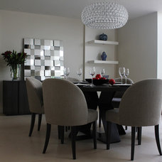 Contemporary Dining Room by Eve Waldron Design