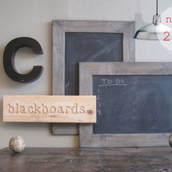 Chalkboard With Driftwood Gray Frame by DA Custom Frames - Add a framed blackboard to a gallery wall, and jot down a fun message whenever inspiration strikes.
