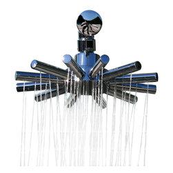 N/A - Modern Mosaic Sunburst Shower Head - ONLY - Sunburst Round Armed Shower Head - Only w/ 66 Shower Jets
