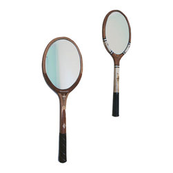 PinkPianos - Oval Tennis Racket Mirror - These mirrors are new fun renewed vintage design made from classic vintage tennis rackets with oval mirrors. I appreciate minimal and modern design and I think this mirror marries the past and the present in an interesting way.