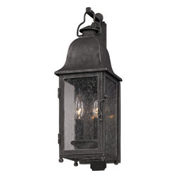 "Troy Lighting - Troy Lighting B3211 Larchmont 2 Light Outdoor Wall Sconce with Seedy Glass - Troy Lighting B3211 Larchmont 2 Light 18.75"" High Outdoor Wall SconceThe lights of the Larchmont Collection will illuminate your exterior with beautiful classic styling.Troy Lighting B3211 Features:"