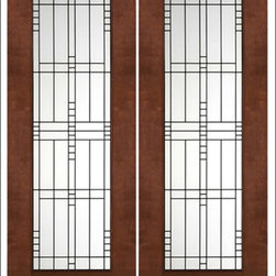 """AAW Inc. - Contemporary Entry Door Model NW-1670 - Model NW-1670 from our New World Collection. Door is solid Mahogany, 2-1/4"""" thick with clear or matte low-E glass."""