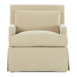 Bryght - Emily Beige Armchair - A European inspired design that is as perfect as it is timeless. The Emily Armchair brings together streamlined proportions, character and style with its modern take on a classic slip covered design.