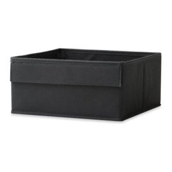 Real Simple - Real Simple Half Height Fabric Drawer in Black - Real Simple Fabric Drawers are compatible with all storage and system units. This half-height drawer helps divide cube openings and creates organized, separated storage compartments.