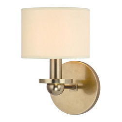 Hudson Valley - 1511-AGB Kirkwood Wall Sconce, Aged Brass - Modern Contempo Wall Sconce in Aged Brass from the Kirkwood Collection by Hudson Valley.