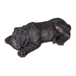 Uttermost - Uttermost Animal Sculptures Copper Bronze Uttermost Figurines and Sculptures - This adorable puppy features a heavily distressed copper bronze finish on cast iron with a dark gray glaze.