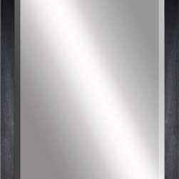 Paragon Decor - Beveled Mirror, Flat Black Wood, 24x36 - Mirror, Mirror, on the wall, who's the most beautiful mirror of them all? Reflect your impeccable taste with this contemporary-style mirror, which features a gorgeous flat black wood frame and high-quality interior beveled mirror. This piece measures 29 inches wide, 2 inches deep, and 41 inches high.