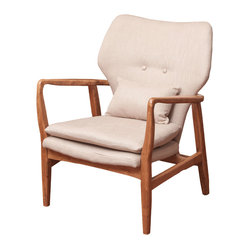 Great Deal Furniture - Kana Accent Armchair - A very nice and well recognized chair, the Kana chair's design is true to its Art Deco style predecessor.