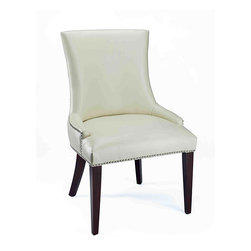 Becca Cream Leather Dining Chair - How about a little leather in the dining room? The cream color on this chair keeps it light but gives the feel of luxe.