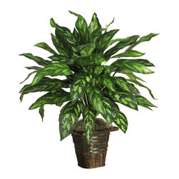 Nearly Natural - Nearly Natural Silver King with Basket Silk Plant - Live a life of luxury with this beautiful silk silver King. Rich colorful hues and ornately designed leaves create a royal appeal that can't be beat. At 31 inches tall, this lovely plant blends well in any home or office setting. Nestled in a shapely wicker basket bursting with moss, it makes a nice housewarming gift for family or friends. Best of all, There's no watering or pruning required.
