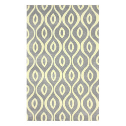 nuLOOM - Contemporary 5' x 8' Grey Hand Tufted Area Rug ACR193 Trellis - Made from the finest materials in the world and with the uttermost care, our rugs are a great addition to your home.