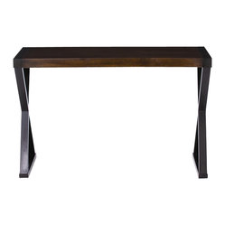 Arteriors - Tahiti Console - You want style that's versatile in your contemporary home — and here's a console table that fills the bill. With its sleek lines, classic X-base and dark walnut finish, it can hold a TV, support a lamp behind a sofa or serve as a buffet.