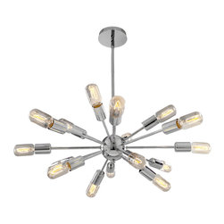 Access Lighting - Access Lighting 55543-CH Vintage Lamped Chandelier - Access Lighting 55543-CH Flux Vintage Lamped Chandelier
