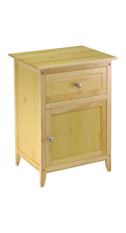 Winsome Wood - Winsome Wood End Table / Night Stand with Natural Finish X-51118 - Night Stand with simple design and plenty of storage and a cabinet.  Satin Nickel knob.  Available in different finishes. Ready to Assemble.