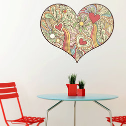 Heart Vinyl Wall Decal HeartUScolor006; 72 in. - Vinyl Wall Decals are an awesome way to bring a room to life!