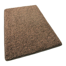 """Koeckritz - Stair Treads 9""""X27"""" Frieze Shag 45 oz Rug Carpet Mink, Set of 13 - This rug is more of a frieze then it is shag. Soft and plush solution dyed 45 oz. 3/4 inch thick (pile height) polyester. Combines the best of innovation, craftsmanship and fashion. The yarn in this gorgeous rug is made of is 100% extra soft polyester, a carpet fiber that is not only incredibly soft, but exceptionally durable. The edges of these rugs are bound and finished with a matching soft, yet durable nylon fabric binding that is sewn to the edge of the rug for a very clean finish. Not to mention the speckled colors look great and would hide just about anything. Unsurpassed in quality and style without sacrificing affordability. In addition to their beauty and durability, Koeckritz area rugs are made from superior materials and the right colors to express your personal style. Koeckritz area rugs are the premium choice when it comes to color and value as they provide unique interpretations for traditional and modern interiors. Decorate the office, den, living room, dining room, kitchen or bedroom. This rug will accent and add life to any room. Due to so many custom sizes available, some rugs will require a seam. This is done on the underside of the area rug with a special seam tape. The seam will be invisible. *Please Note that size and color representation are subject to manufacturing variance and may not be exact. Also note that monitor settings may vary from computer to computer and may distort actual colors. Photos are as accurate as possible; however, colors may vary slightly in person due to flash photography and differences in monitor settings. Each rug/carpet is manufactured with the same colors as pictured"""