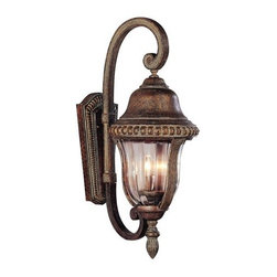 Trans Globe Lighting - Trans Globe Lighting 4922 Three Light Up Lighting Outdoor Wall Sconce O - Three light up lighting outdoor wall sconce featuring clear ribbed glassRequires 3 60w Candelabra Base Bulb (Not Included)