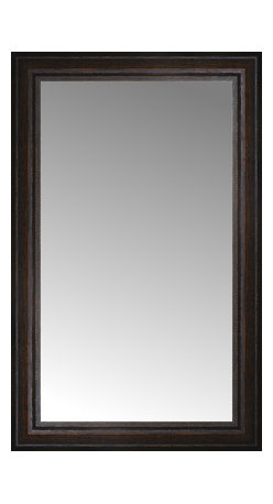 """Posters 2 Prints, LLC - 18"""" x 28"""" Tuscany Embossed Custom Framed Mirror - 18"""" x 28"""" Custom Framed Mirror made by Posters 2 Prints. Standard glass with unrivaled selection of crafted mirror frames.  Protected with category II safety backing to keep glass fragments together should the mirror be accidentally broken.  Safe arrival guaranteed.  Made in the United States of America"""