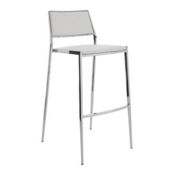 Nuevoliving - Nuevo Living Aaron Counter Stool - Black - HGBO180 Color: White