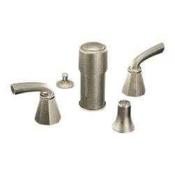Moen - Moen S445BN Bidet Faucet Brushed Nickel - Moen Showhouse S445BN Felicity two handle Bidet Faucet - Brushed Nickel