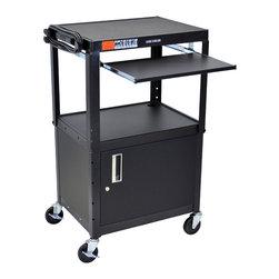 Luxor - Luxor Presentation Cart - AVJ42KBC - The Luxor AVJ42 series are excellent multipurpose AV/utility carts.
