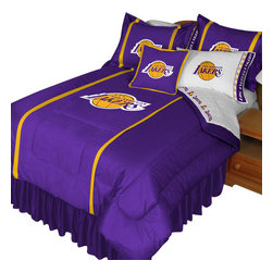 Store51 LLC - NBA Los Angeles Lakers Comforter Pillowcase Basketball Bed, Twin - Features: