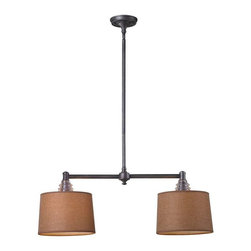 Elk Lighting - Elk Lighting 66831-2 Insulator Glass Traditional Island Light in Weathered Zinc - Elk Lighting 66831-2 Insulator Glass Traditional Island Light in Weathered Zinc