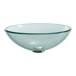 Kraus - Kraus Clear Glass Vessel Sink - *Fashionable bathroom sink is the perfect harmony of elegance and style