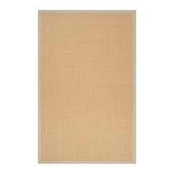 Surya - Surya Clinton Natural Fiber Woven Rug X-975-2009NLC - The natural beauty of the warm, earth-tone color, and the wide, cotton border in four natural colors, make our Clinton sisal area rug so beautiful. The natural fibers make them Eco Friendly, just another reason this extremely durable rug is so popular. Made from 100% hand woven sisal in India.
