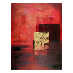Casarietti Studio - Endless is a 30 x 40 original luscious red abstract painting - Endless is an original collaborative acrylic painting. The abstract artwork is created with many, many colors and layers of red, crimson, bronze, gold and black acrylic paint. We use a variety of thicknesses and textures to bring dimension, depth, movement and emotion to the piece. Rich colors and textures emerge thoughtful compositions arise as the painting evolves into being. This painting is meant to create beauty and calm where ever it is placed a portal for the viewer to take time and simply be. It is a 30 x 40 x 1.5 painting on canvas gallery wrapped with edges painted matching the front of the piece and it is ready to hang. It can be hung vertically or horizontally it works compositionally either way...