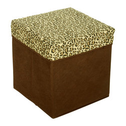 Blancho Bedding - Leopard Spots Square Foldable Storage Ottoman / Storage Boxes / Storage Seat - The Foldable Storage Seat will make an ideal addition to your room, which combines accessible everyday storage with a useful occasional seat. Not only does it provide you a comfortable place to rest, but it also offers extra space to store your gaming gear, gadgets, books, magazines, and other household necessities. With lots of storage space, the ottoman helps you keep your room free from clutter. Made with non-woven fabric and durable cardboard. It spices up your home's decor, and create a multifunctional storage unit for all around your home.