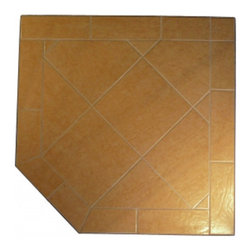 """HearthSafe - HearthSafe Steel Frame Corner Hearth Pad - SP1-1912 - Shop for Fireplace Accessories from Hayneedle.com! Protect your flooring while creating a beautiful look around your wood burning stove with the HearthSafe Steel Frame Corner Hearth Pad. Crafted from tile with an angle-iron steel edge and BaseRigid cement board this entire hearth pad is fireproof making it both a flame arrestor and thermal barrier. Made with a single piece of angle-iron that is notched welded and finished in an anti-scratch powder coating gives the edging unmatched durability. Constructed to meet or exceed UL safety standards this pad features stain resistant grout that won't crack making it virtually maintenance free. Complete with a lifetime limited burn-through warranty this hearth pad is available in your choice of size and color. Additional Features Uses a single piece of angle-iron Angle-iron is notched and welded Edging design provides unmatched durability Meets or exceeds UL safety standards Stain resistant grout won't crack BaseRigid cement board Maintenance free construction Pad is both a flame arrestor and thermal barrier About HearthDistribution.comWith a combined experience of 65 years HearthDistribution.com (HDC) work's hard to provide their customers with peace of mind and hands-on operation. All of their hearth pads and extensions are tested and listed to meet the current safety standards to provide you with the safest installation of your stove or fireplace insert. As an online retailer with no """"brick and mortar"""" stores HDC is able to save money and passes those savings onto their customers."""