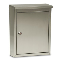 The Regent - The robust Regent is constructed of stainless steel with an incoming slot perfect for residents receiving larger items, such as magazines and bank check boxes. The storage compartment is wide and deep and is protected by a durable stainless steel cam lock with locked/unlocked indicator. Each Regent mailbox includes mounting hardware, instructions and two mail compartment keys. To find a dealer near you please visit: http://www.architecturalmailboxes.com/where-to-buy/default.aspx
