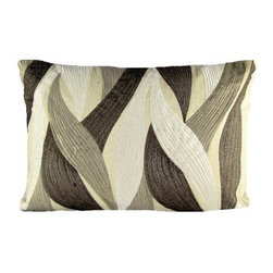Design Accents Textured Pillow - Fauna - The Design Accents Textured Pillow - Fauna features a natural appearance that's perfect for your contemporary style. Made of high-quality cotton , the soothing grey and brown color palette is sure to add a touch of elegance to any room in your home. The modern look is finished with a textured fauna embroidery for a look that makes it a favorite accent.